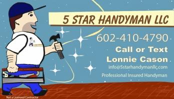 5 star handyman logo