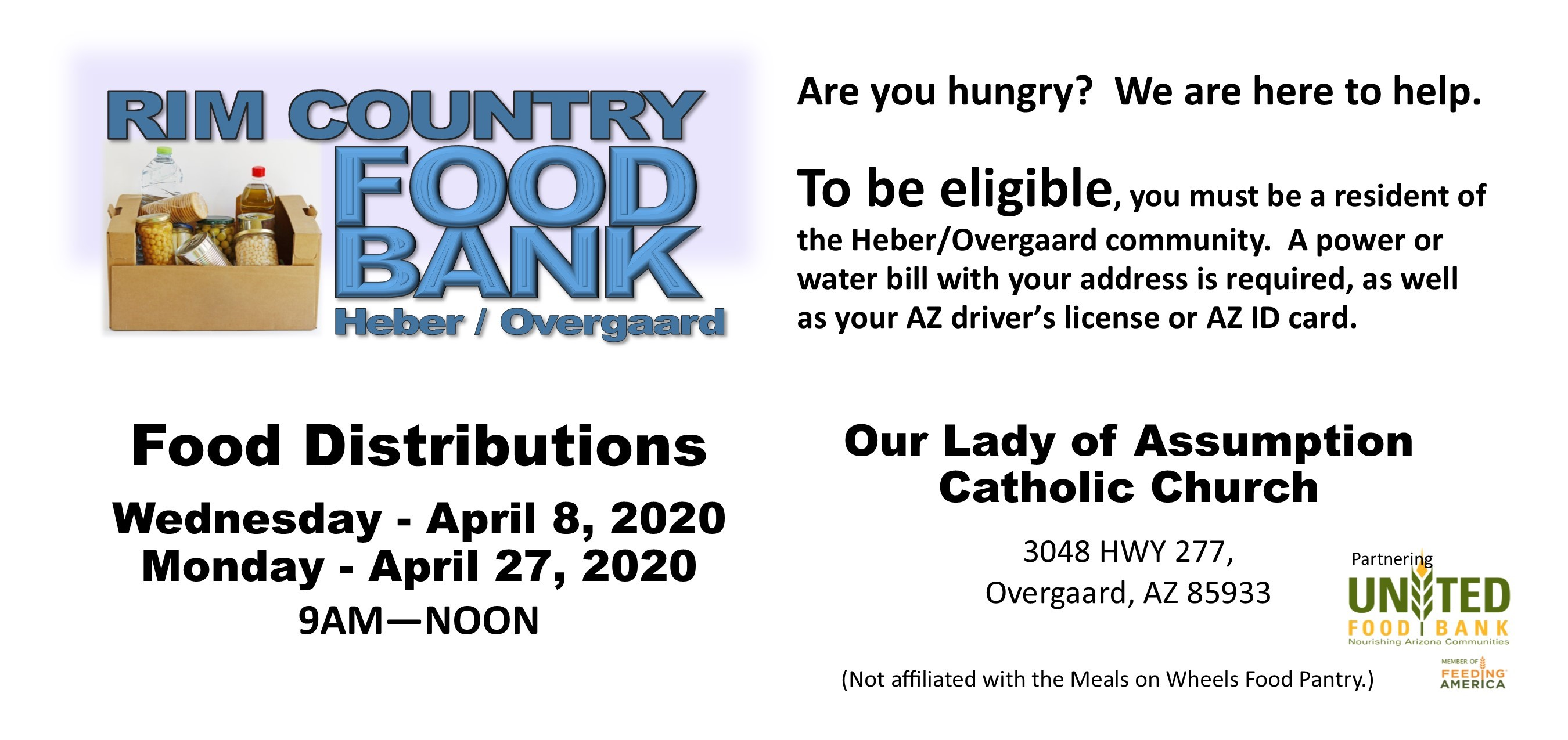 2020 FOOD BANK April